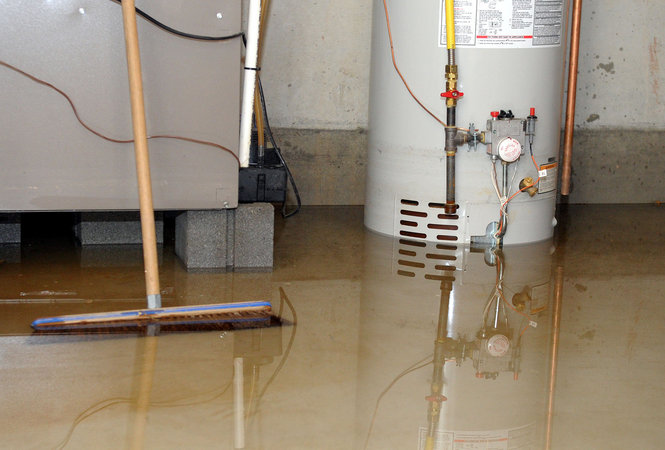 how to clean concrete basement floor after a flood